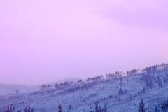 Ansicht der Winterberge vom höchsten tschechischen Berg - Snezka Stockbilder
