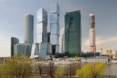 Ansicht der Wolkenkratzer Stockfotos