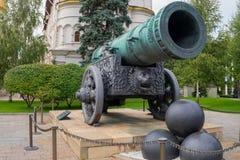 Ansicht der Zar-Kanone lizenzfreie stockfotografie