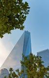Ansicht des Äußeren von einem World Trade Center Stockfoto