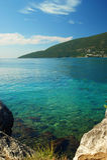 Ansicht des adriatischen Meeres von Herceg Novi Lizenzfreies Stockfoto