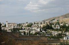 Ansicht des Albaicin in Granada, Spanien und Stockfotos