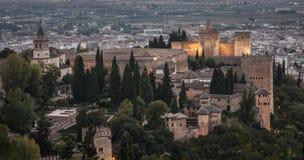 Ansicht des Alhambra Stockbild