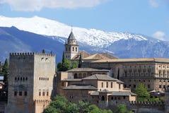 Ansicht des Alhambra-Palastes Ende des Nachmittages Lizenzfreies Stockfoto