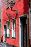 Ansicht des Altbaus im Herzen von altem Riga, Lettland Stockfotografie