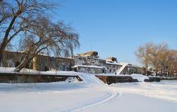 Ansicht des alten Forts Totleben, Russland Stockbild