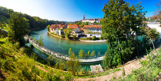 Ansicht des alten Stadtzentrums Berns mit Fluss Aare Bern ist Kapital von Lizenzfreie Stockbilder
