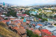 Ansicht des alten Tifliss Stockfotos