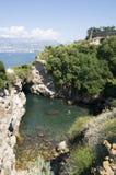 Ansicht des Amalfi-Schachtes (Salerno, Italien) Stockbilder
