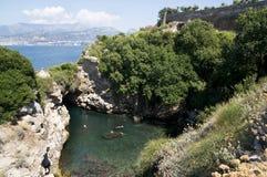 Ansicht des Amalfi-Schachtes (Salerno, Italien) Stockfotos