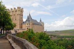 Ansicht des Aquädukts von Segovia Stockbild