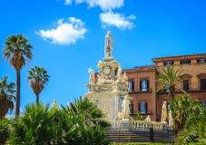Ansicht des berühmten Palazzo-dei Normanni, Royal Palace, in Palermo Lizenzfreie Stockbilder