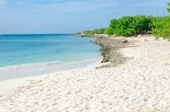 Ansicht des Bildes genommen von Adler Strand, Aruba Stockbild