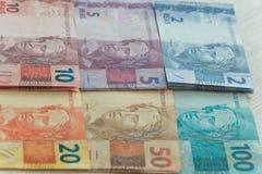 Ansicht des Brasilien-Geldes/-Reais Lizenzfreie Stockbilder