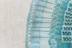 Ansicht des Brasilien-Geldes/-Reais Lizenzfreie Stockfotos