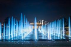 Ansicht des Brunnens im Park von Künsten Muzeon in Moskau Lizenzfreie Stockbilder