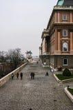 Ansicht des Budapest-Schlossturms drittens lizenzfreies stockbild