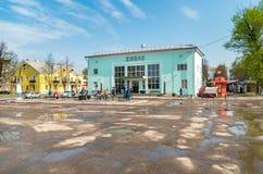 Ansicht des Busbahnhofs in Pskov, Russische Föderation lizenzfreie stockfotografie