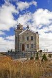 Ansicht des Ceder-Punkt-Leuchtturmes Lizenzfreie Stockfotos