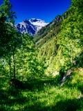 Ansicht des Cistella-Berges, der zum Alpe-devero, summe steigt Lizenzfreies Stockbild