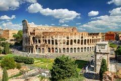 Ansicht des Colosseum in Rom Lizenzfreies Stockbild