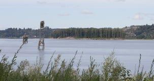 Ansicht des Columbia Rivers nahe Gresham, Oregon stock video