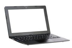 Ansicht des Computer-Laptop-Drei viertel lokalisiert Lizenzfreies Stockbild