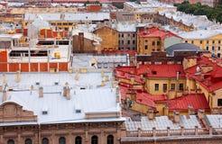 Ansicht des Dachs von St Petersburg Lizenzfreie Stockfotografie