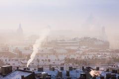 Ansicht des Dachs von St Petersburg Stockfotos