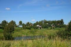 Ansicht des Dorfs Stockbild