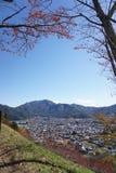 Ansicht des Dorfs Stockfotografie