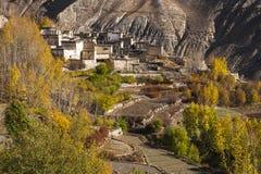 Ansicht des Dorfs Jhong Lizenzfreie Stockfotos