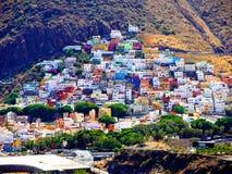 Ansicht des Dorfs von San Andres unweit von der Hauptstadt von Teneriffa lizenzfreie stockbilder