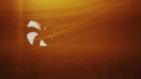 Ansicht des drehenden Conditioners im Nachtklub Orange Scheinwerfer rasterfeld blätter stock video footage