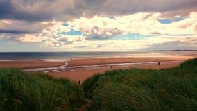 Ansicht des Druridge-Bucht-Strandes Stockfoto