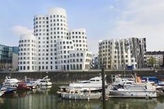 Ansicht des Dusseldorf-Media-Hafens Lizenzfreie Stockfotos