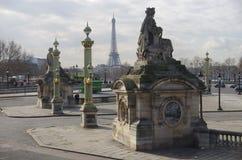 Ansicht des Eiffelturms Lizenzfreie Stockbilder