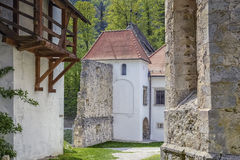 Ansicht des Eingangs zum Kloster Lizenzfreies Stockfoto