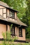 Ansicht des Elsass-typischen traditionellen Hauses Lizenzfreies Stockfoto