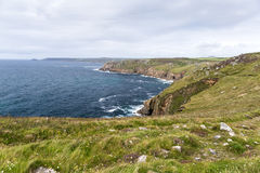 Ansicht des Endes des Landes in Cornwall Stockfotografie