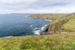 Ansicht des Endes des Landes in Cornwall Lizenzfreie Stockfotos