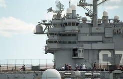 2000 Ansicht des Führerraums USSs John F kennedy stockbilder