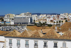 Ansicht des Faros (Faro, Portugal) stockfotos