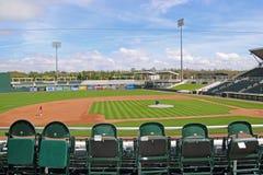 Ansicht des Feldes von der Third Base bei Hammond Stadium Stockfotos