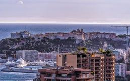 Ansicht des Felsens in Monaco Stockbild