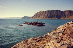 Ansicht des Fjords Stockbilder