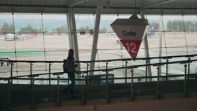 Ansicht des Flughafen-Flugsteig-12 stock video