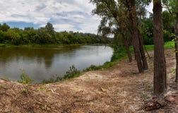 Ansicht des Flusses Stockbild