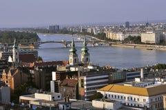 Ansicht des Flusses Donau Lizenzfreies Stockfoto