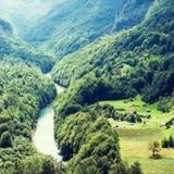 Ansicht des Flusses Tara Stockbilder